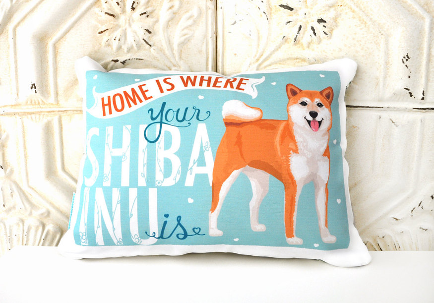 shiba inu pillow from etys