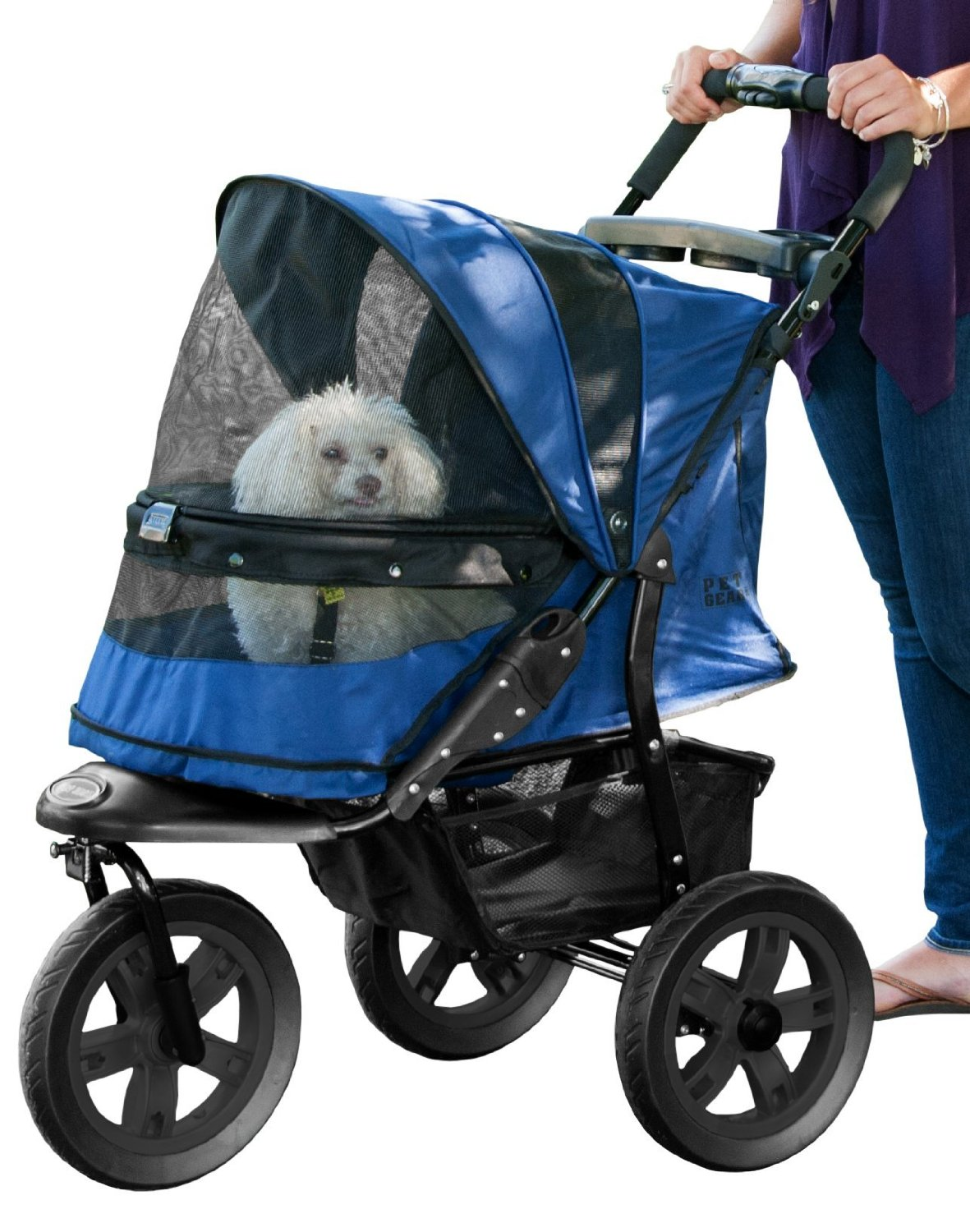 pet gear dog stroller with bigger wheels