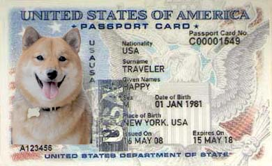 shiba inu pet passport dog names