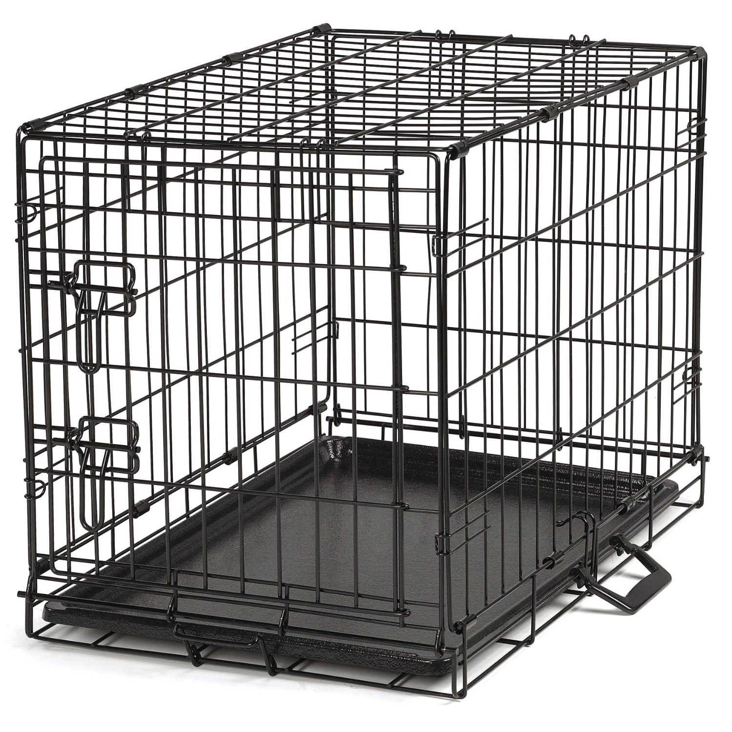 proselect easy dog crates for dogs and pets black medium single door