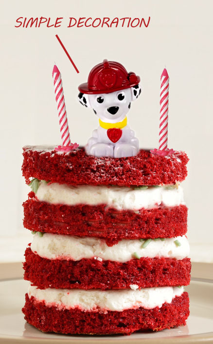 simple dog cake decoration