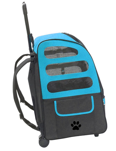 rolling wheeled pet carrier