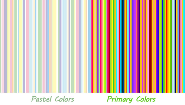 pastel vs primary colors