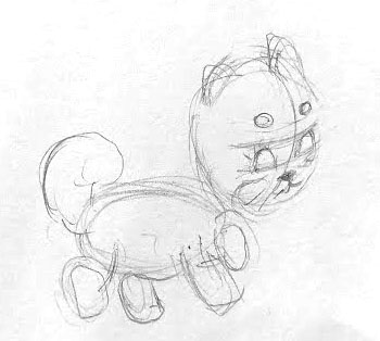 pencil dog drawing shiba inu