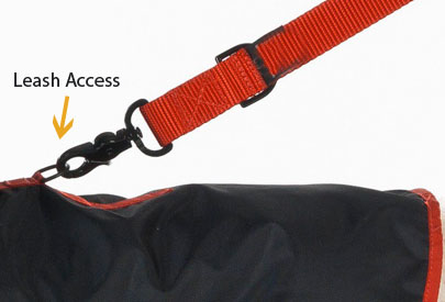 dog raincoat leash access