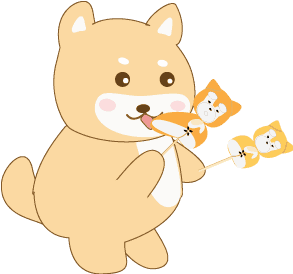Shiba Inu butt dango cartoon