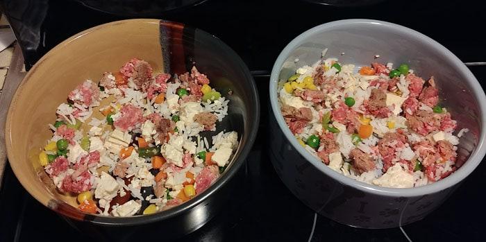 fresh homemade dog food