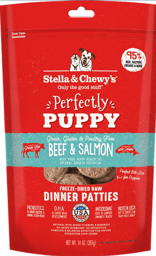 Stella Chewy puppy food recommended for shiba inu