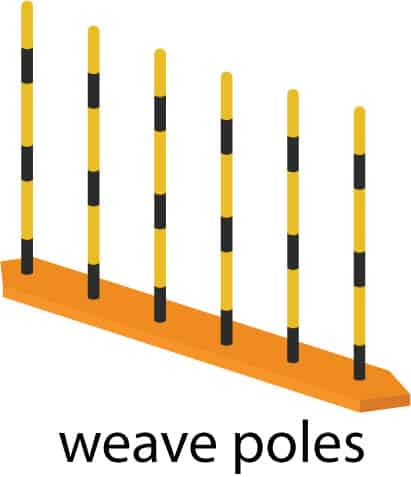 weave poles illustration