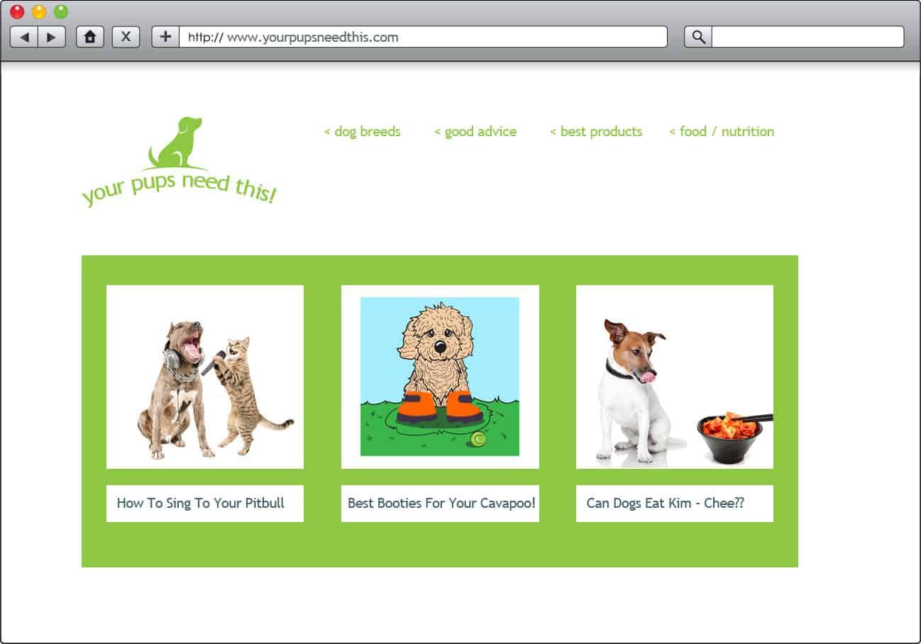 fake dog blog example