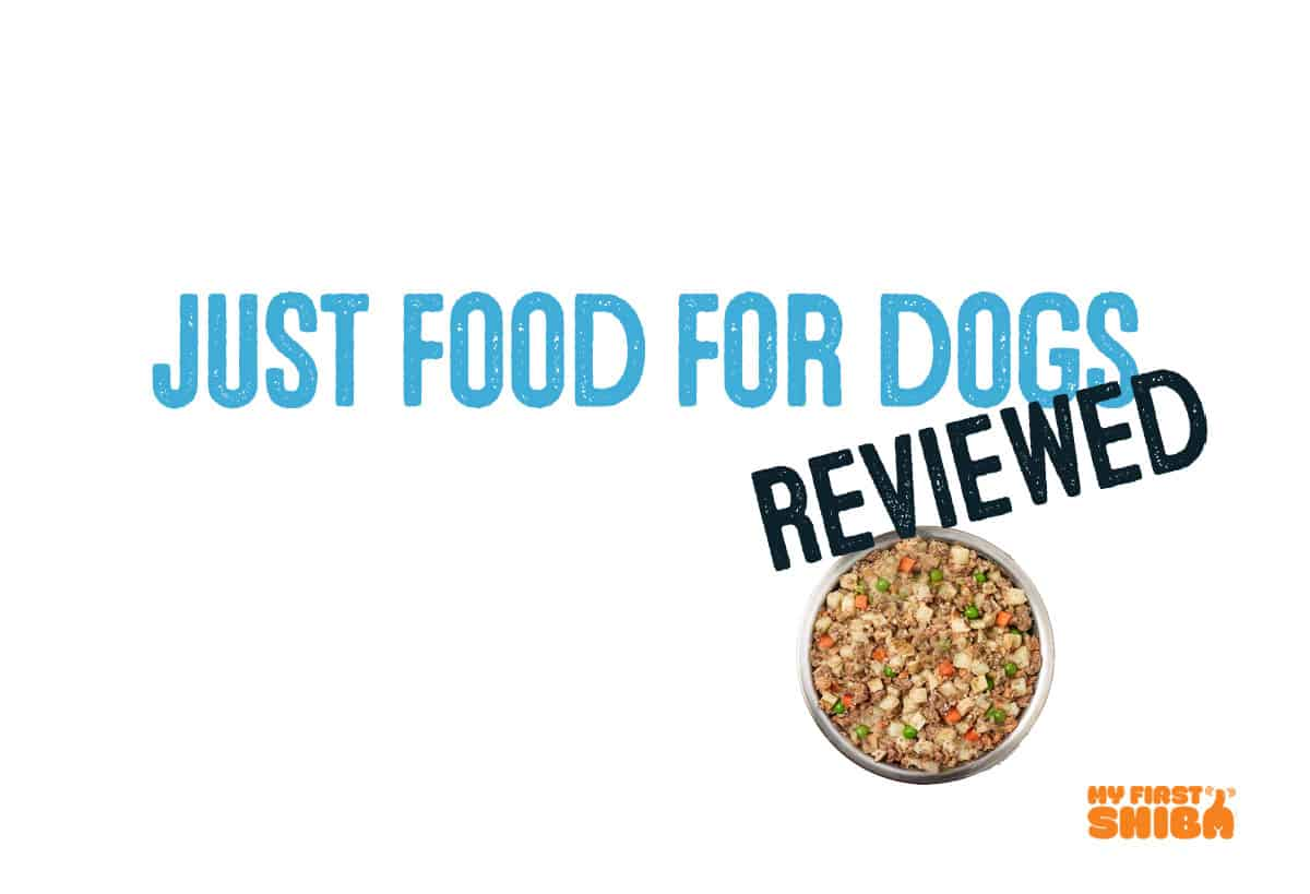 just food for dogs reviewed by my first shiba